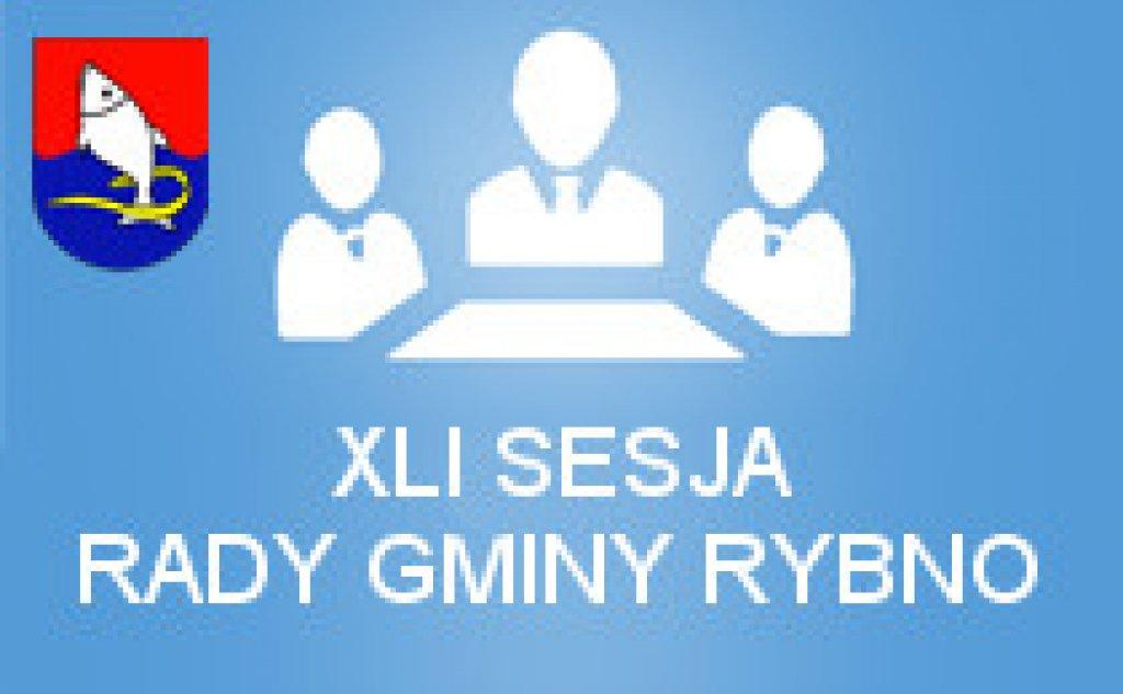 XLI Sesja Rady Gminy Rybno