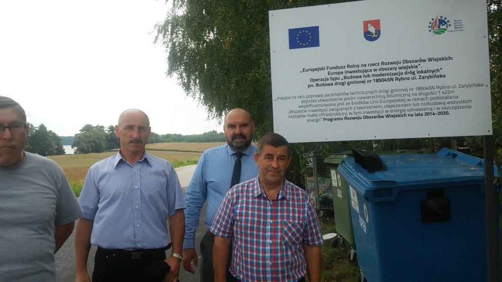Przekazanie do użytkowania ul. Zarybińskiej w Rybnie