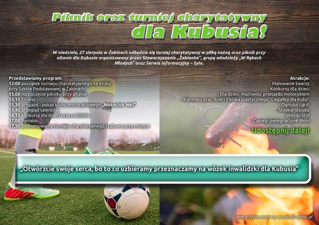 Żabiny: Piknik oraz turniej charytatywny dla Kubusia