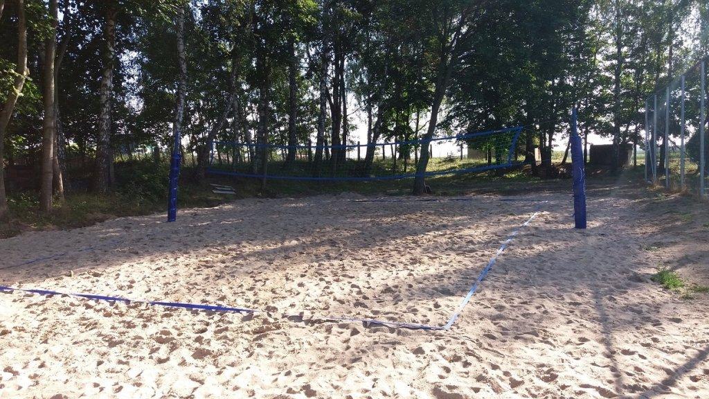 Koszelewy: Mieszkańcy zbudowali boisko do piłki plażowej