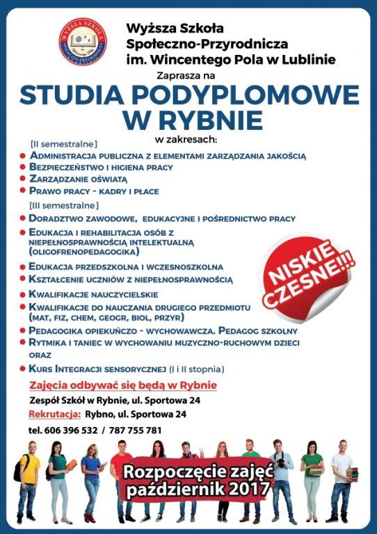 Studia podyplomowe w Rybnie
