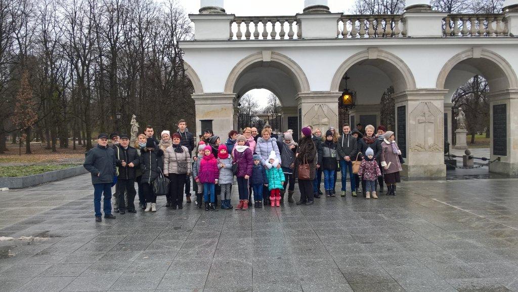 Wycieczka stowarzyszenia ze Szczuplin do Warszawy