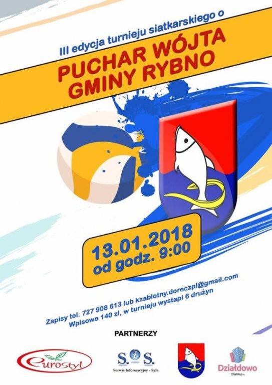 Zapraszamy na III turniej piłki siatkowej o Puchar Wójta Gminy Rybno
