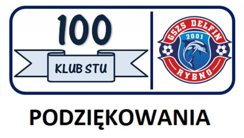 Podziękowania dla członków Klubu Kibica '100'
