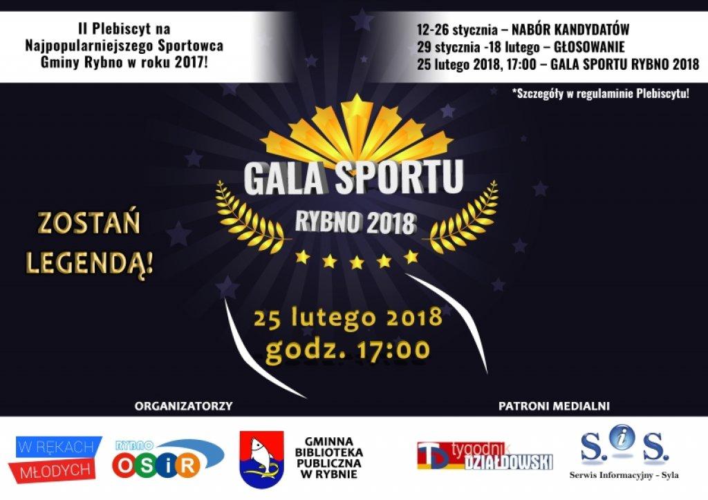 II Plebiscyt na Najpopularniejszego Sportowca Gminy Rybno w roku 2017