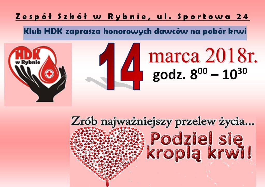 Klub HDK zaprasza na pobór krwi