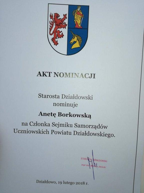 Uczniowie Zespołu Szkół członkami Sejmiku Samorządów Uczniowskich