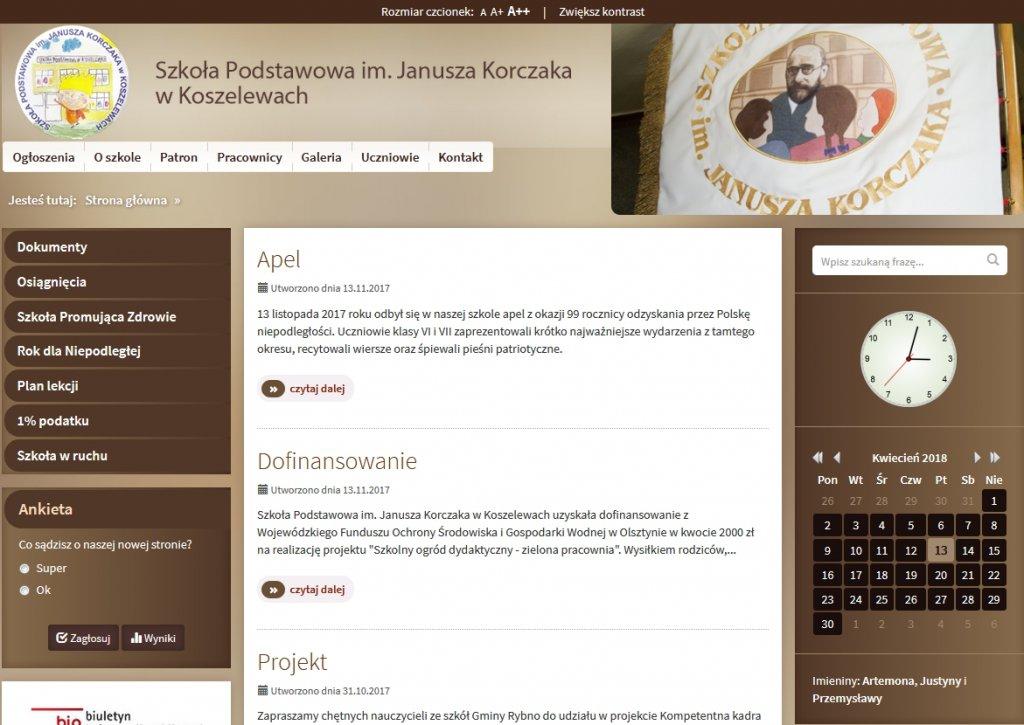 Koszelewy: Szkoła ma nową stronę