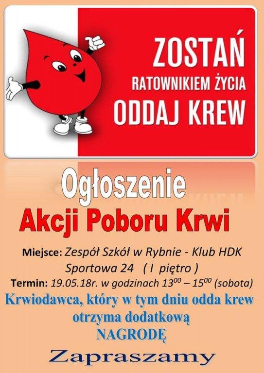 Oddaj krew - zostań ratownikiem życia