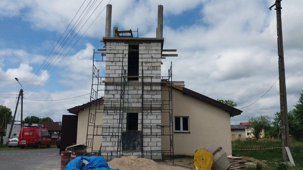 Koszelewy: Trwa budowa wieży widokowej