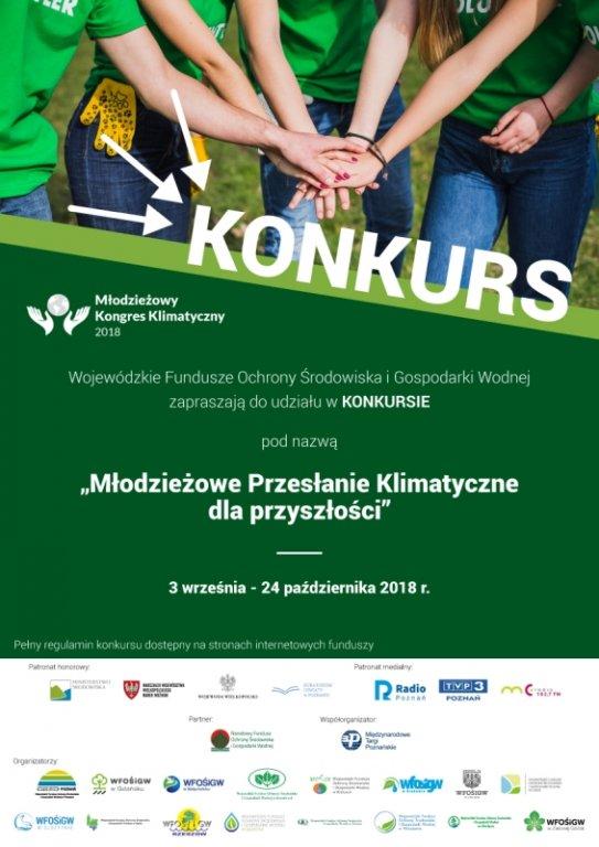 Konkurs 'Młodzieżowe Przesłanie Klimatyczne dla przyszłości'