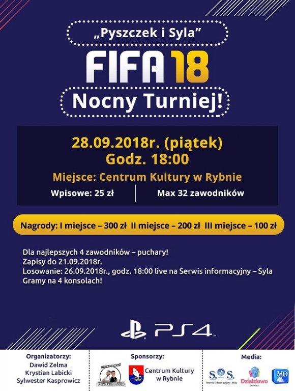 Zapraszamy na 'Pyszczek i Syla - Fifa 2018' - Nocny Turniej