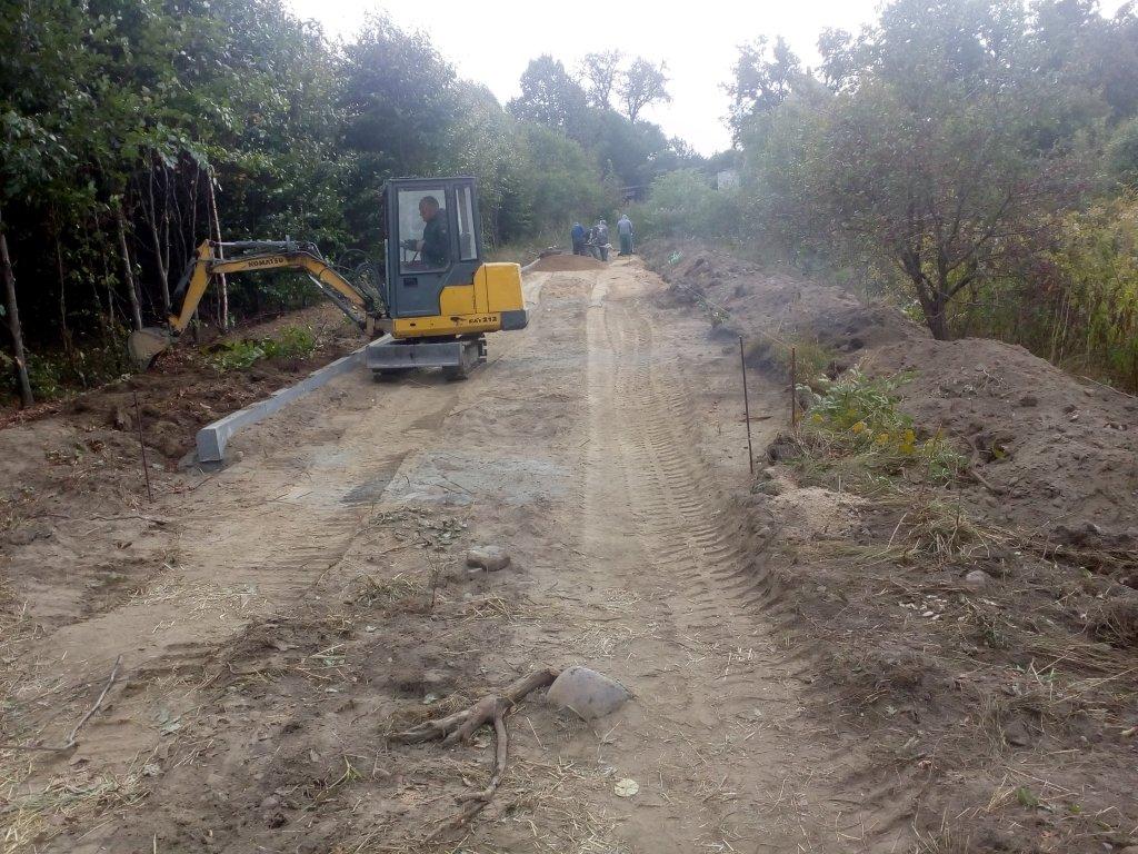 Budowa drogi w Żabinach