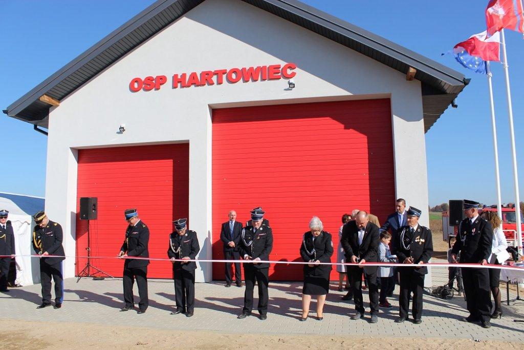 Hartowiec: Uroczyste otwarcie, poświęcenie i odbiór remizy strażackiej