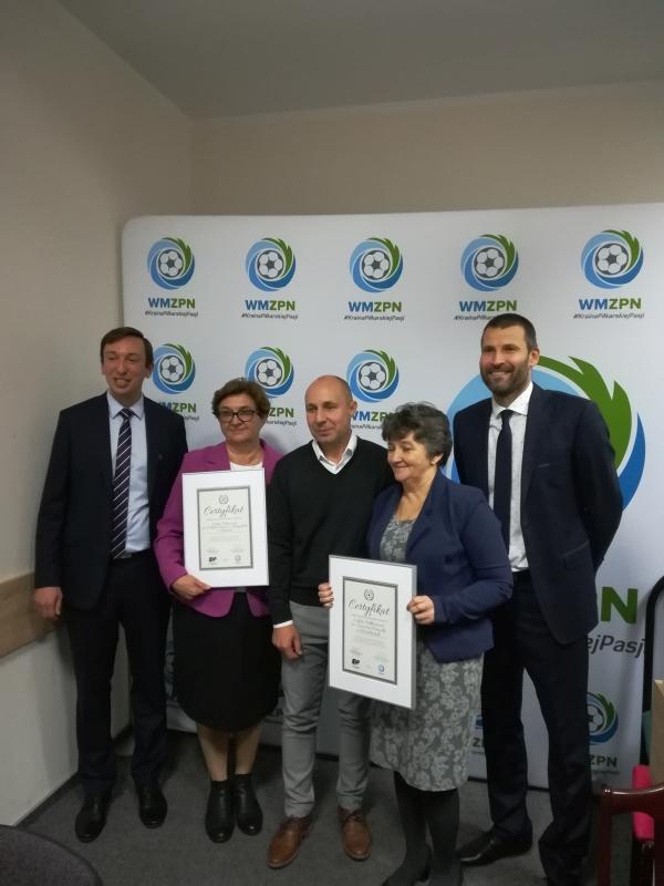 Certyfikaty 'Piłka nożna w szkole'