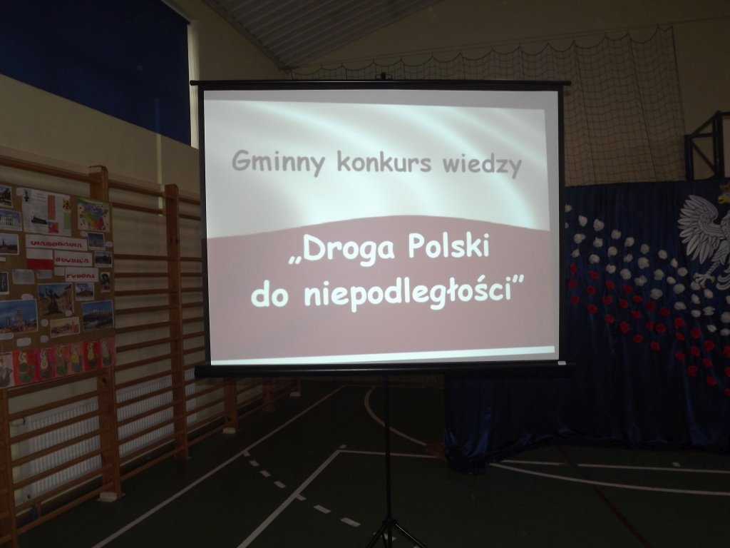 Gminny konkurs wiedzy 'Droga Polski do niepodległości'