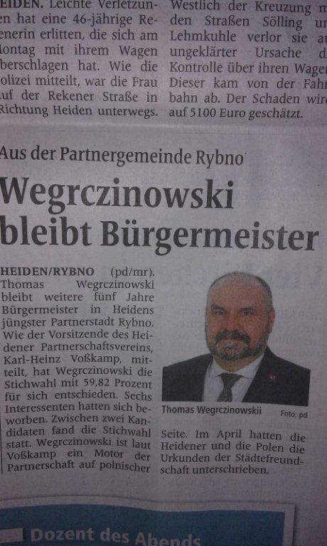 Gratulacje od Burmistrza Heiden