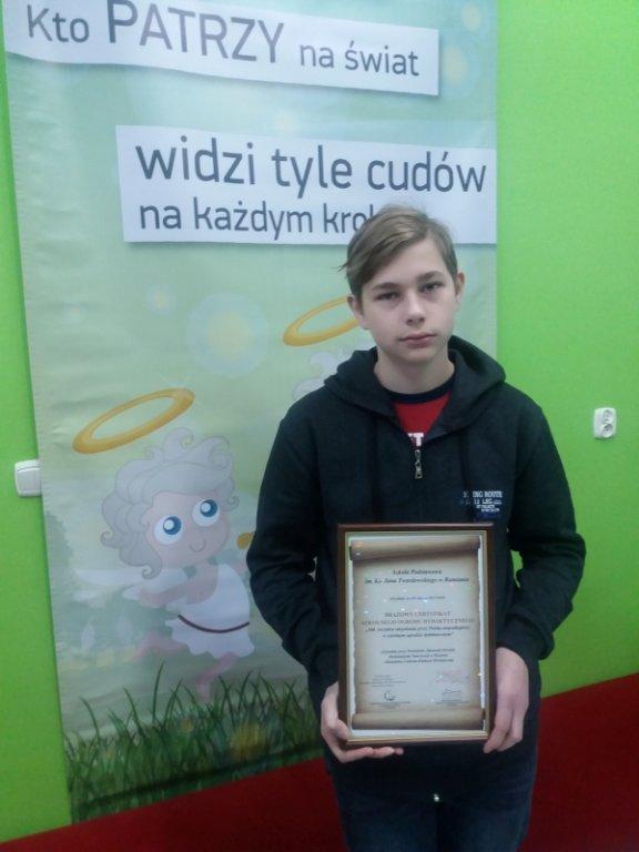 Brązowy Certyfikat Szkolnego Ogrodu Dydaktycznego dla Rumiana