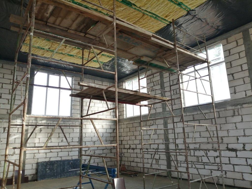 Koszelewy: odbiór kolejnego etapu budowy sali sportowej
