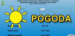 Dane ze stacji meteorologicznej w Rumianie